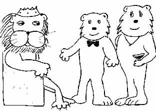 Image of the king & two bears
